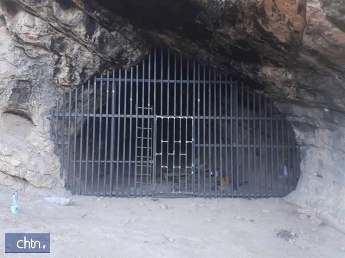 مراحل پایانی ساخت درِ حفاظتی برای غار تاریخی کلدر خرم آباد