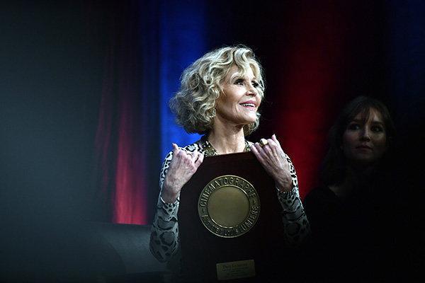 تقدیر از جین فوندا در زادگاه سینما