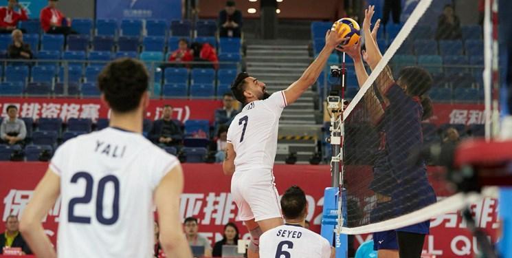 والیبال انتخابی المپیک، ایران 3 - چین تایپه صفر