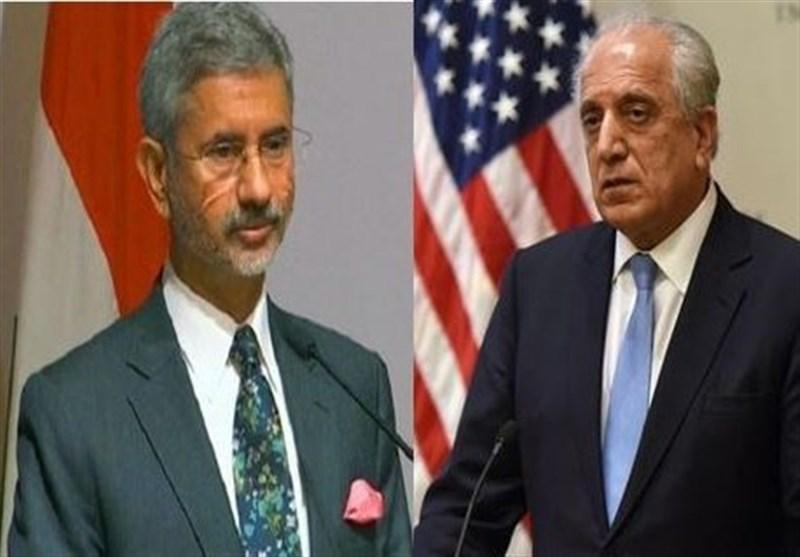 گفتگوی تلفنی خلیلزاد با وزیر خارجه هند درباره فرایند صلح افغانستان