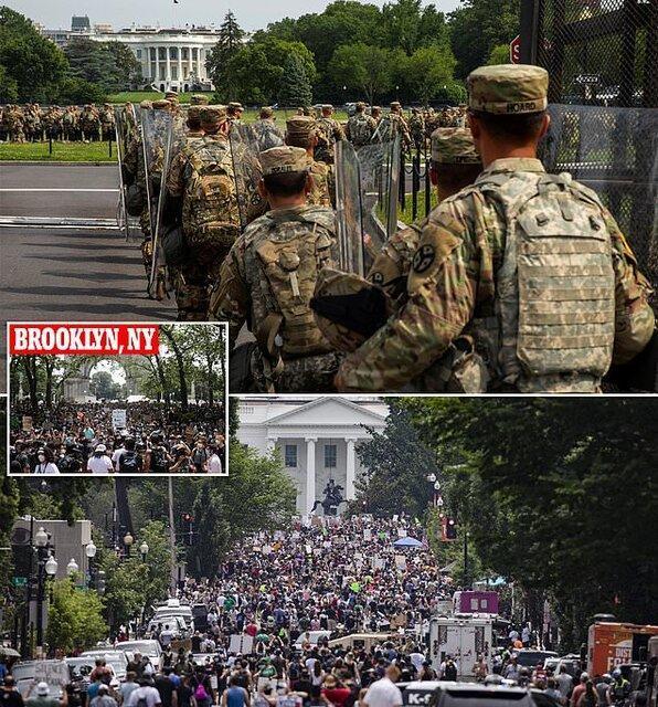 گزارش تصویری از تظاهرات بزرگ مقابل کاخ سفید