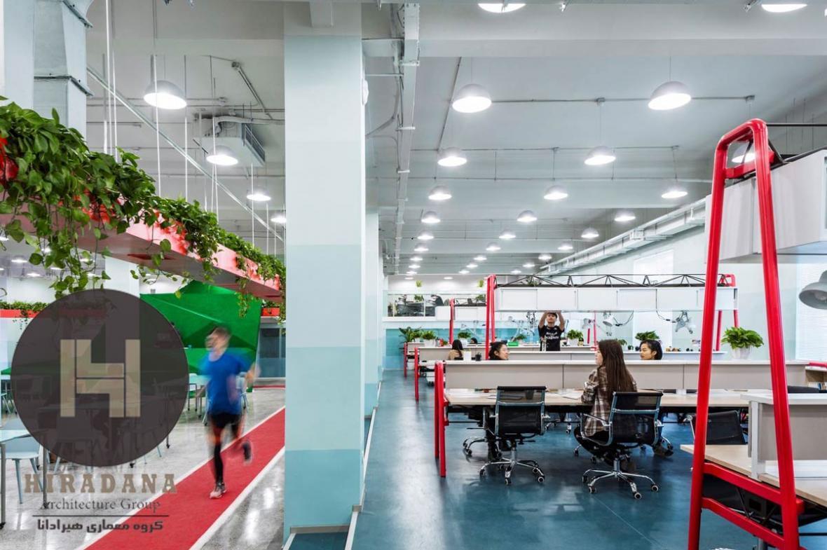 طراحی داخلی اداری دفتر مرکزی بنیاد کارآفرینان چین