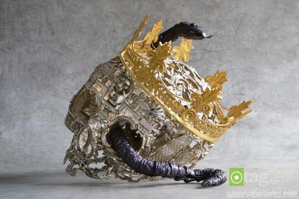 مدل مجسمه دکوری و زینتی زیبا ساخته شده با فلز مفرغ