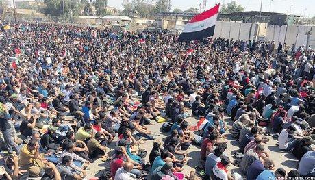 تظاهرات ده ها هزار نفری حامیان صدر در عراق