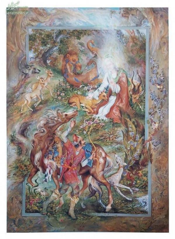 32 قاب تصویر از نقاشی او خواهد آمد استاد فرشچیان