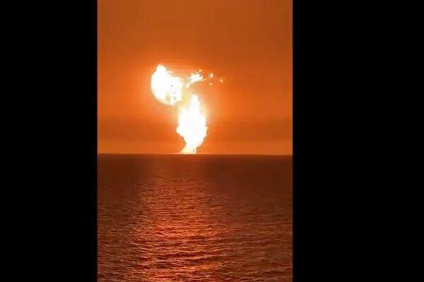 وقوع یک انفجار عظیم در دریای خزر، فوران آتشفشان دلیل انفجار بود