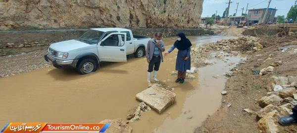 کشف کتیبه 400 ساله در روستای گلابر زنجان پس از سیل