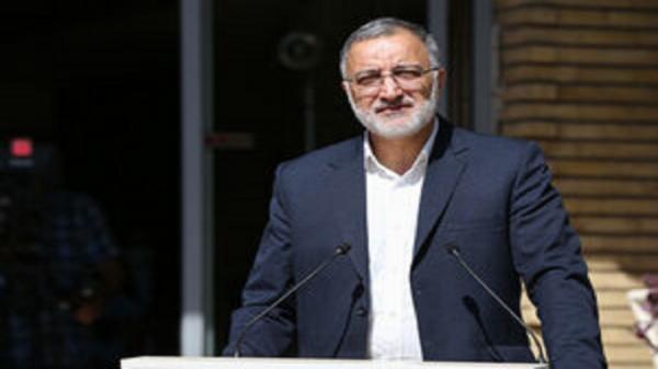 شهردار تهران ابتدا به معراج شهدا و سپس دفتر کارش رفت