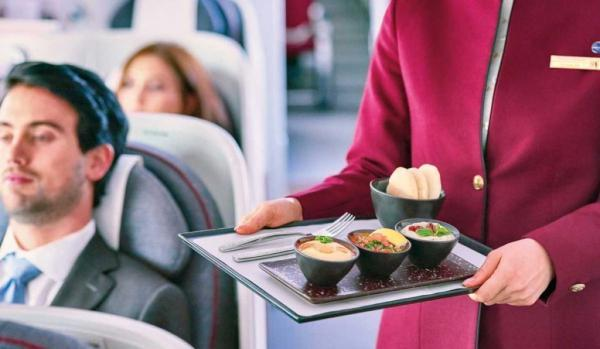 تور قطر ارزان: کترینگ غذایی در هواپیمایی قطر